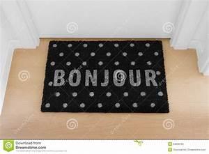 Welcome Home Doormat With Close Door Stock Images - Image ...