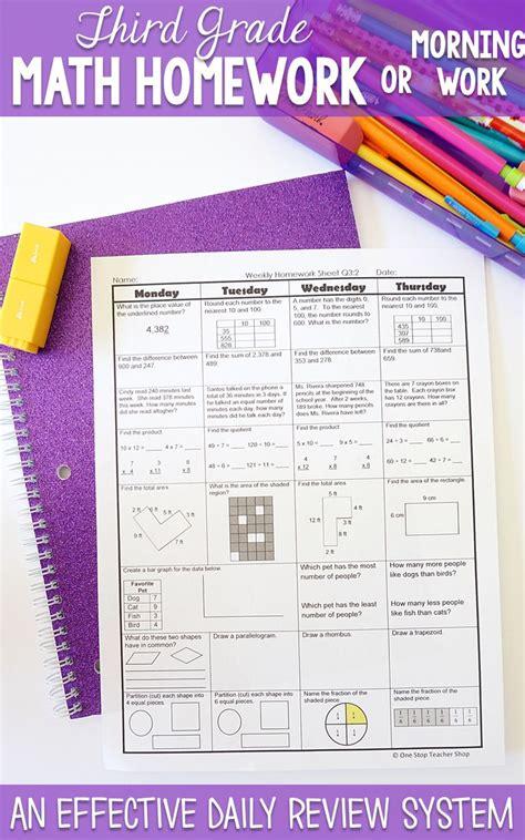 3rd Grade Math Review Morning Work  3rd Grade Math Review Morning Work 1000 Ideas About Third