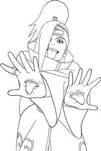 Naruto Akatsuki Members Coloring Pages