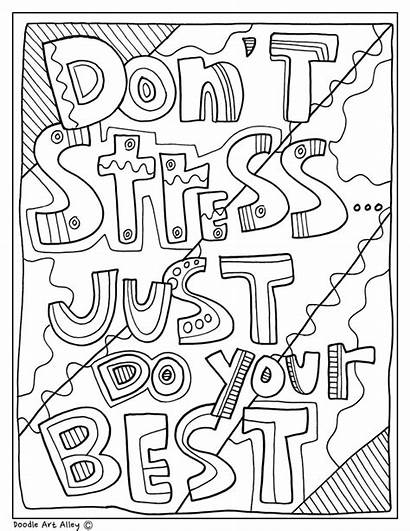 Quotes Doodles Classroom Educational Coloring Pages Doodle