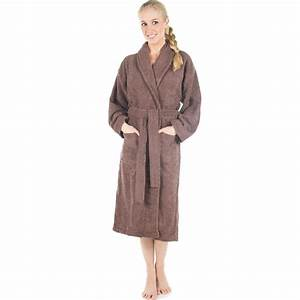 Bademantel Damen Frottee : bademantel morgenmantel sauna wellness frottee damen herren braun s xxxl oregon ebay ~ Yasmunasinghe.com Haus und Dekorationen