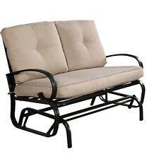 Metal Loveseat Glider by Metal Glider Patio Garden Furniture Ebay