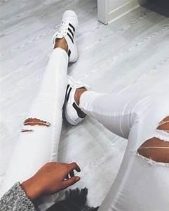 Jeans ripped jeans style tumblr tumblr outfit tumblr girl tumblr clothes white white ...