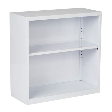 2 Shelf White Bookcase by 2 Shelf Metal Bookcase In White Hpbc11