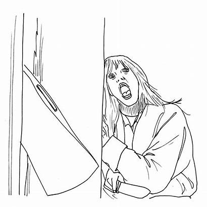 Horror Coloring Pages Halloween Colouring Characters Sheets
