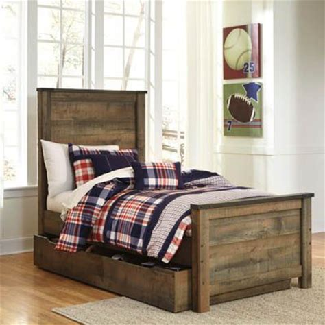 Bernie And Phyls Bedroom Sets by Trinell Youth Bedroom Panel Bed With Trundle Bernie