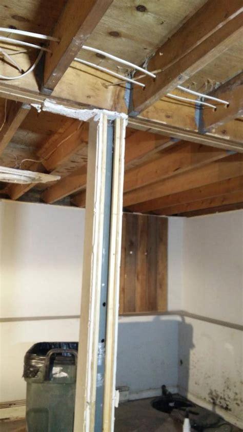 kitchen improvement ideas installing permanent support column in the basement home