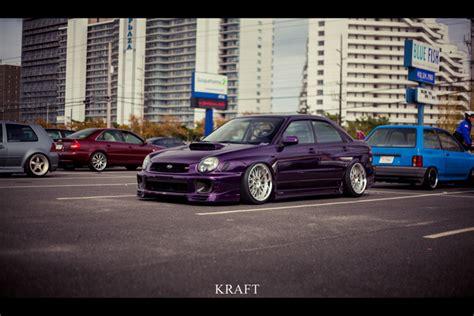dark purple subaru dat purp stance is everything
