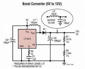 Lt1071 Boost Converter  5v To 12v  Circuit Collection