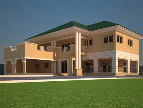 5 Bedroom Home Designs :  Modern African House Plans