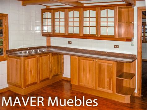 muebles de cocina rustico madera modernos disenos