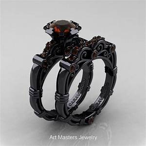 Art Masters Caravaggio 14K Black Gold 10 Ct Brown Diamond