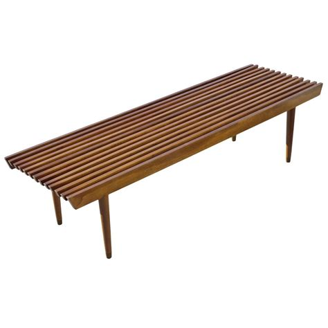 George Nelson Style Wood Slat Bench And Coffee Table At. How To Clean Gutters. Velocity Construction. Black Table White Chairs. Jacobean Floors. Frugal Furniture. Library Ladders. Body Shower. Dining Room Tables