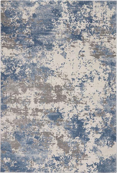 nourison rustic textures rus grey blue rug studio