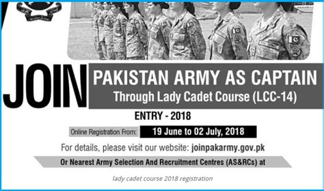 Join Pakistan Army As Captain 2018 Through Lady Cadet