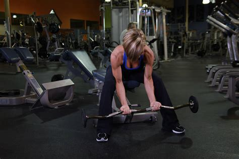 Seated Close-grip Concentration Barbell Curl Exercise
