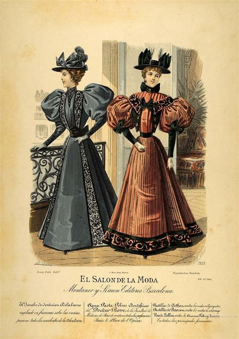 Victorian Fashion Art Print Poster Art Gallery