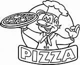 Pizza Coloring Hut Drawing Cartoon Restaurant Getdrawings Coloringpagesfortoddlers Terrific Kaynak Guardado Desde sketch template