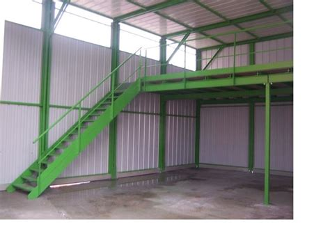 conteneur bureau plate forme de stockage mezzanine industrielle abriandco