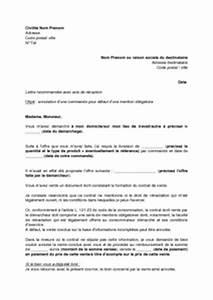 Document Pour La Vente D Une Voiture : lettre d 39 annulation d 39 une vente par d marchage pour d faut ~ Gottalentnigeria.com Avis de Voitures