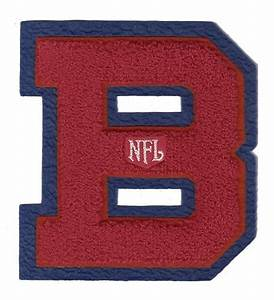 large vintage nfl football red on blue b chenille letter With chenille letters and patches