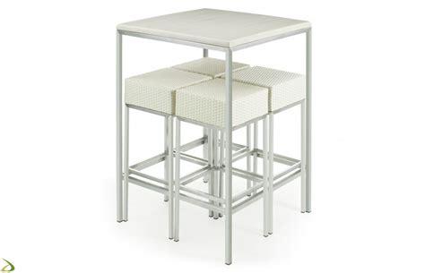 tavoli da bar alti stool in synthetic wicker for bistro flora arredo