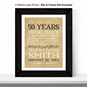 50th anniversary gift for parents anniversary gift 50 year With 50 year wedding anniversary gift