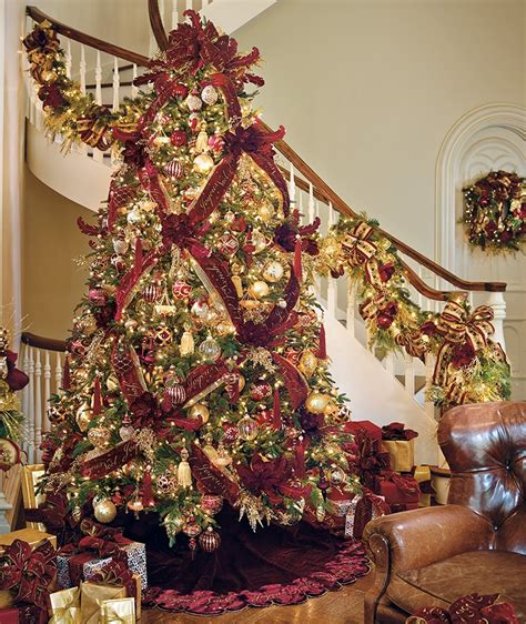how to put vertical ribbon on christmas tree 5 steps to a dazzling designer tree frontgate