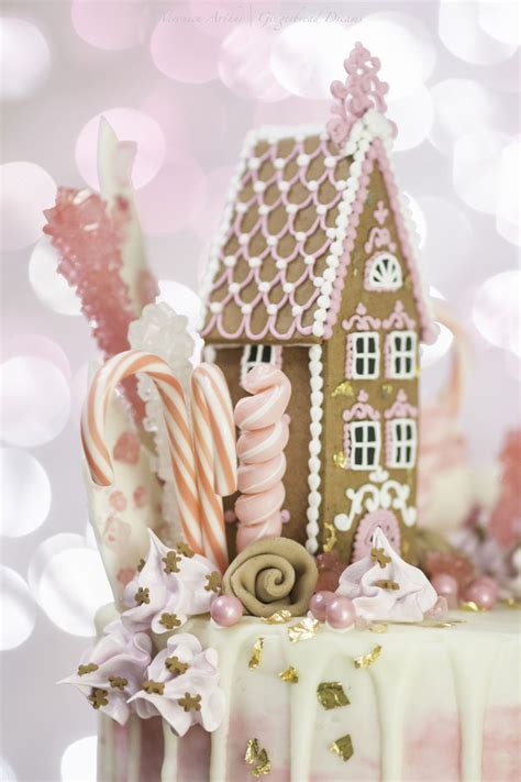 pink gingerbread drip cake cakecentralcom