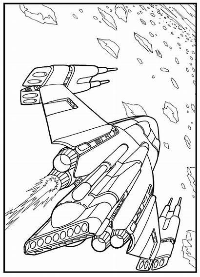 Coloring Star Raumschiff Trek Pages Future Ausmalbilder