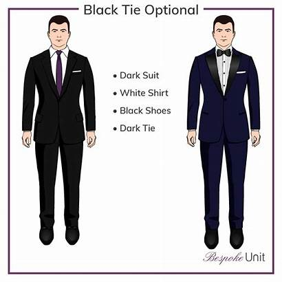 Tie Optional Wear Suit Code Formal Event
