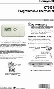 Honeywell Thermostat Ct3451 Users Manual 69 1620  Programmable
