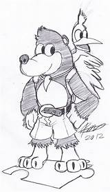 Banjo Kazooie Bigdead93 Pages Colouring Deviantart Drawings Open Again Bar Looking Case Don sketch template