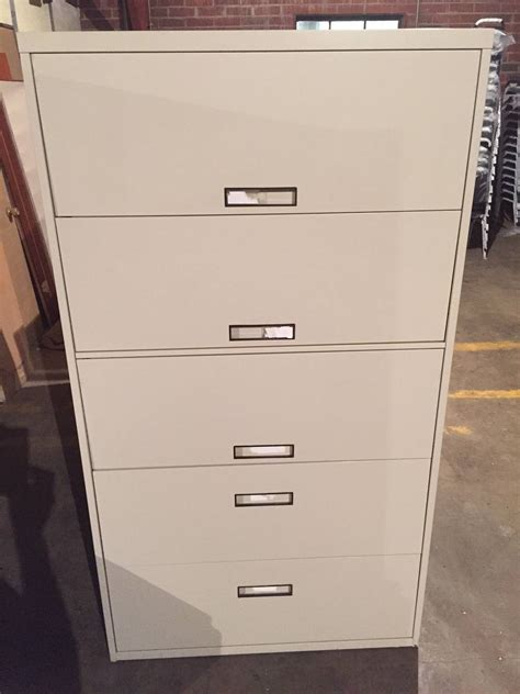 5 drawer file cabinet 5 drawer steelcase 36 quot 42 quot wide putty lateral file