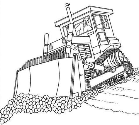 Get out your pens, your colored pencils and give color to life. Bulldozer Coloring Pages