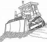 Pages Coloring Bulldozer Crane sketch template