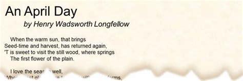 poem  april day  henry wadsworth longfellow