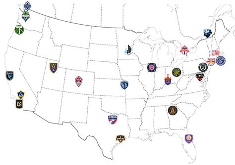 Mls Soccer Teams Map