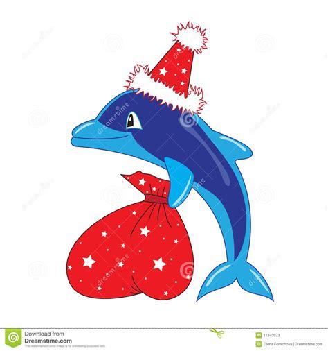 christmas dolphin clipart   cliparts