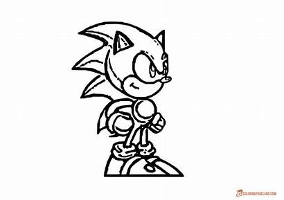 Sonic Games Coloring Hedgehog Pages Drawing Sheet