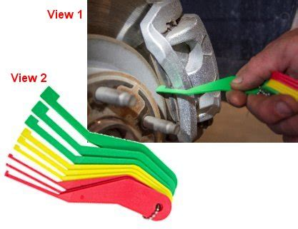 lisle tools lisle disc brake pad gauge brake lining