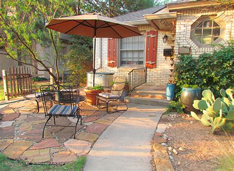 patio in front of house hardscape ideas for front yards houselogic landscaping tips