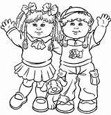 Coloring Friends Preschoolers Friendship Printable Popular sketch template