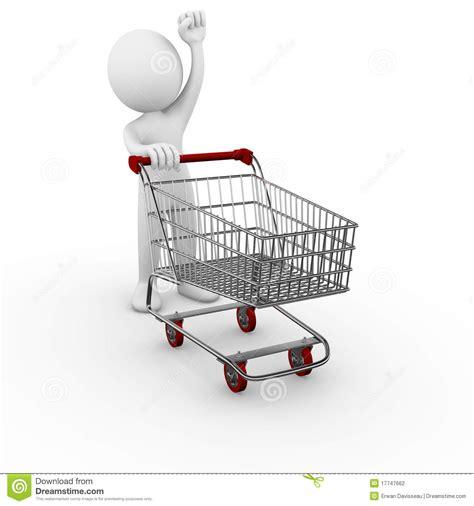 shopping cart trolley stock illustration illustration