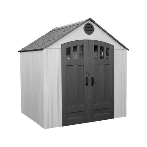 home depot suncast tremont shed suncast tremont 7 ft 1 3 4 in x 8 ft 4 1 2 in resin