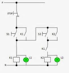 pengendaii instalasi tenaga listrik mengendalikan  buah lampu secara berurutan menggunakan