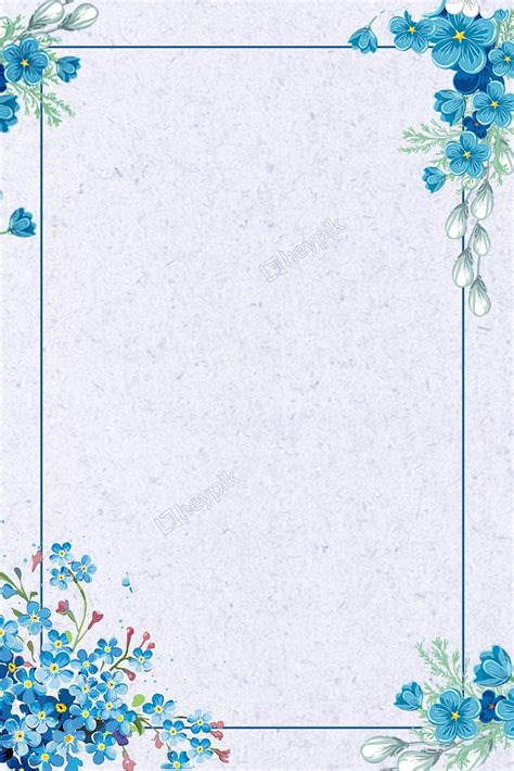 Backgrounds Borders by Blue Flowers Lines The Summer Solstice Background Vector