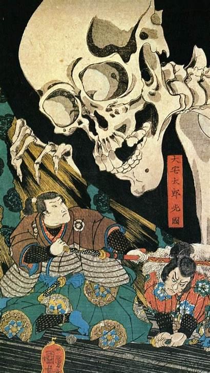 Japanese Samurai Traditional Mythology Iphone Skeleton Wallpapers