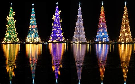 trees of lights in brazil wallpaper de janeiro brazil rodrigo de freitas lagoon new year