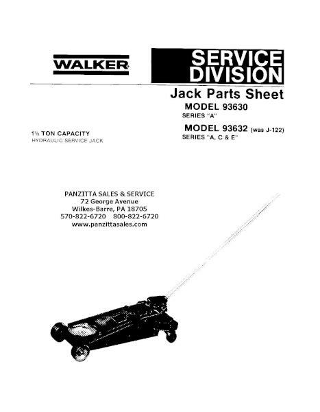 Lincoln Walker 93630, 93632 Parts – Panzitta Sales & Service